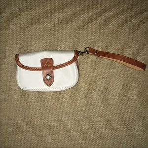 White and red DB wristlet